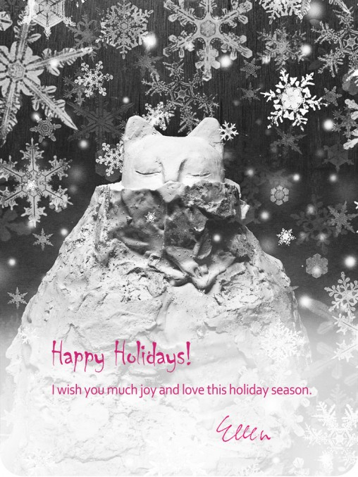 happy holidays online greeting by vancouver artist ellen scobie