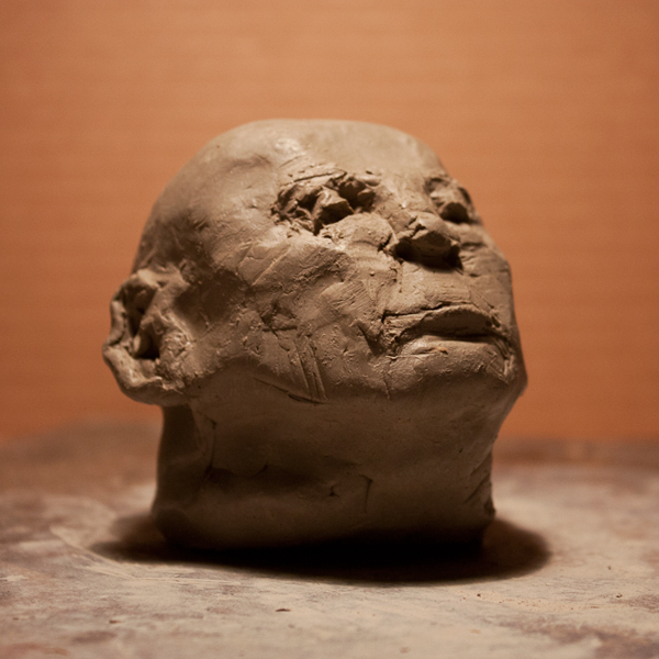 figurative clay study by ellen scobie, vancouver sculpture studio