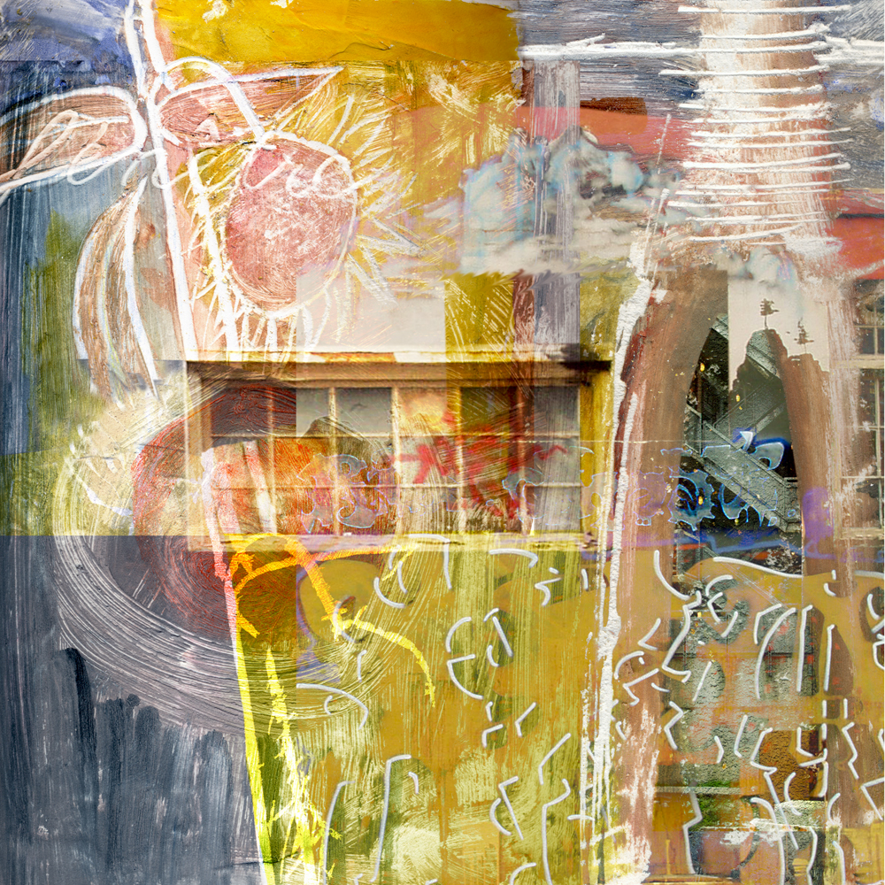 The Window, Mixed media (inkjet and acrylic) on canvas, by ellen Scobie, digital mixed media, original art on canvas