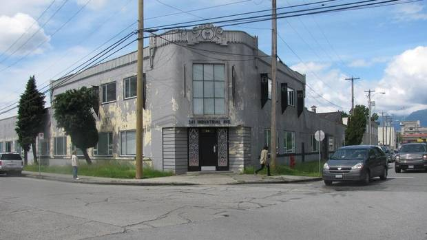 photo of old warehouse to be converted to artist studios in Vancouver