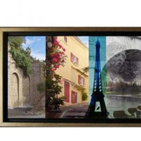 Paris and South of France, custom photographic collage on canvas - from client's own photos
