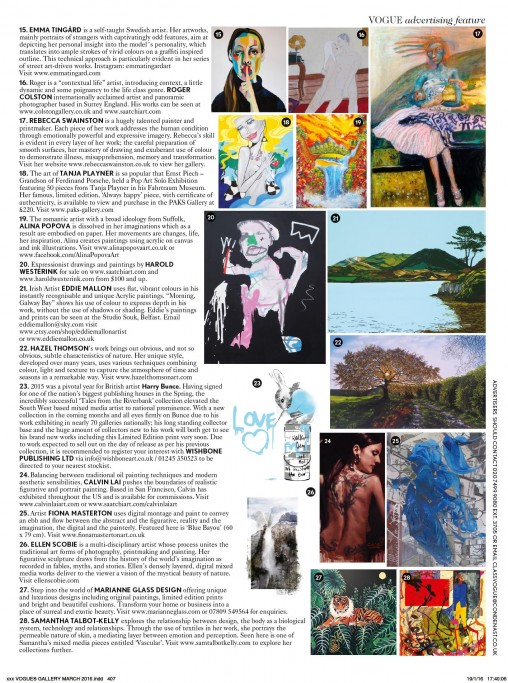 ellen scobie digital collage printmaking featured in British Vogue, March 2016